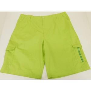 短パン カーゴパンツ 大きいサイズ 綿100% 黄緑 メール便選択可能 ビッグサイズ ハーフパンツ ショートパンツ 半ズボン|dxksm466