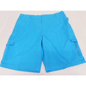 短パン カーゴパンツ 大きいサイズ 綿100% ブルー メール便選択可能 ビッグサイズ ハーフパンツ ショートパンツ 半ズボン|dxksm466