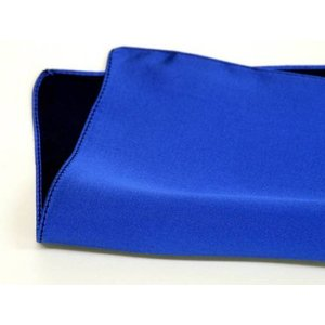 ポケットチーフ 日本製 シルクサテン ブルー 青 無地 絹100% メール便可|dxksm466