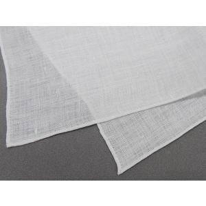 ポケットチーフ パールホワイト 麻100% メール便可 ACC-PCL001|dxksm466