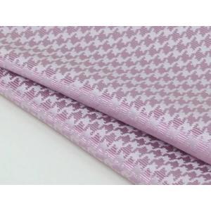 ポケットチーフ 日本製  千鳥格子 シルク100% ジャガード織 ピンク メール便可|dxksm466