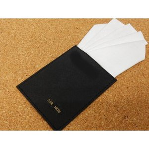 差込式ポケットチーフ 白 シルク100% ファイブピークス ワンタッチ メール便可|dxksm466
