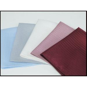 ポケットチーフ 礼装 日本製 キュプラ100% Bemberg ベンベルグ使用  白 銀 ワイン ブルー ピンク メール便可  |dxksm466