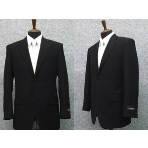 [ALAIN DELON]アランドロン 通年物 シングル2釦ベーシックフォーマルスーツ [E体] 1タック 超黒 アジャスター付礼服|dxksm466