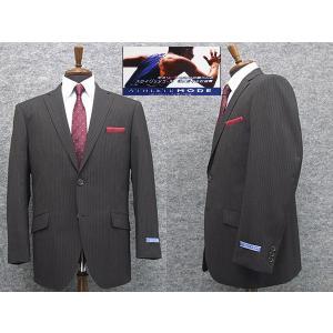 アスリートスーツ 2パンツスーツ 春夏物 セミスタイリッシュスーツ グレー縞 シングル2ボタン [BB体] メンズスーツ ATH257-18|dxksm466