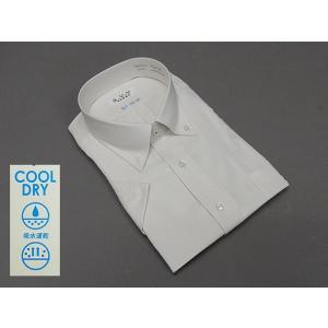 a.v.v HOMME COOL DRY 半袖ドレスシャツ 白系×黄系 ピンストライプ 形態安定 ビッグサイズ メンズ 3L/4L/5L avv-big52|dxksm466
