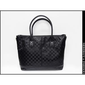 ◆ビジネスバッグ◆2Wayバッグ◆トートバッグ◆ショルダーバッグ◆黒◆市松模様 bg8211-BK|dxksm466