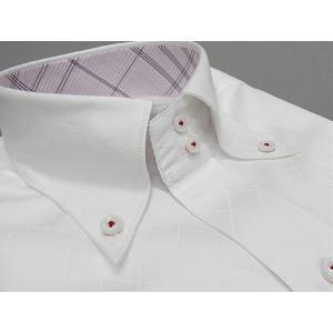 [758Bespoke.J] [FATTURA] 長袖ワイシャツ 白地 綿100% 日本製 ドゥエ ボタンダウン メンズドレスシャツ BSJ15|dxksm466
