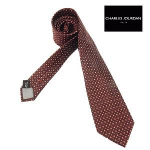 CHARLES JOURDAN イタリア製ネクタイ 薄ピンク系 ストライプ シルク100% メール便可 シャルルジョルダン CJR16|dxksm466