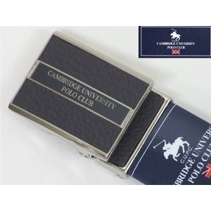 CAMBRIDGE UNIVERSITY POLO CLUB メンズベルト 牛革 茶 メール便可能商品/CUPC04|dxksm466