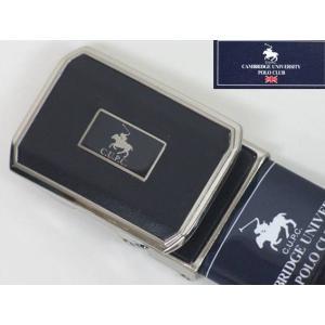 CAMBRIDGE UNIVERSITY POLO CLUB メンズベルト 牛革 黒 メール便可能商品/CUPC05|dxksm466