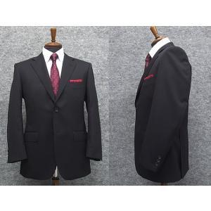スーツ 秋冬物 Super100'sウール ベーシック2ボタン 黒紺 無地 毛100%  総裏地 就活スーツ メンズスーツ |dxksm466
