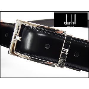 〓DUNHILL〓ダンヒル メンズ本革ベルト リバーシブル イタリー製 黒&茶 105cm対応|dxksm466