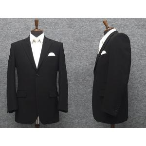 礼服 シングル 通年物 超黒 DEER ベーシックフォーマルスーツ 2釦 ワンタック [A体][AB体][BB体][E体] DR5000S|dxksm466
