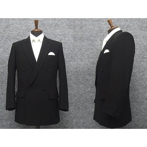 礼服 ダブル 通年物 超黒 DEER ベーシックフォーマルスーツ 4釦×1掛 ワンタック [A体][AB体][BB体][E体] DR5000W|dxksm466