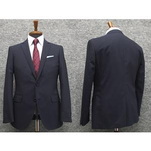 春夏物 スタイリッシュ2釦スーツ 紺系 ストライプ [YA体][A体] 背抜き裏地 メンズスーツ F161244|dxksm466