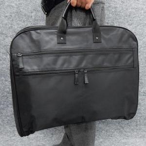 訳あり ガーメントバッグ テーラーバッグ 黒 鞄 スーツ持ち運び マチ付 撥水加工 gbg11