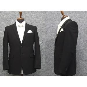 夏礼服 シングルスタイリッシュ スマートフォーマルスーツ 超黒 2釦 ノータック サマーフォーマル GRA-2004|dxksm466