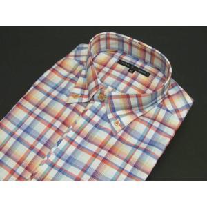 Yシャツ ワイシャツ FIDATO 長袖 綿100% ドレスシャツ カラーチェック ボタンダウン ストレッチ トルファン ビジカジ|dxksm466