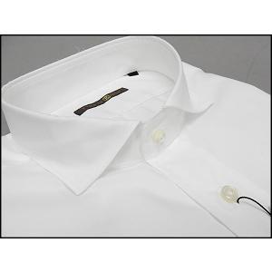 ■FIDATO gold■イタリー製■長袖ドレスシャツ■白■OXフォード■カッタウェイ■綿100%|dxksm466