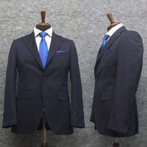 ニュートレンドスーツ 2タックパンツ スタイリッシュ段返り3釦シングルスーツ 濃紺/無地 秋冬物 [Y体][A体][AB体][BE体] メンズ J117|dxksm466