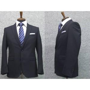 スーツ 春夏物 2パンツスーツ スタイリッシュ2ボタンスーツ 紺 無地 背抜裏地 就活スーツ メンズスーツ|dxksm466