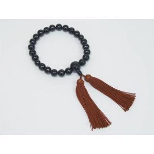 礼装 数珠 念珠 黒檀(艶あり)22玉 男性用  |dxksm466