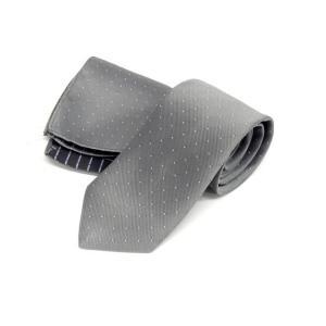 ドット柄ネクタイ ポケットチーフ付 薄グレー 甲州織 日本製 ポリエステル100% メール便可 FP KOJI YAMAMOTO KJD03 dxksm466
