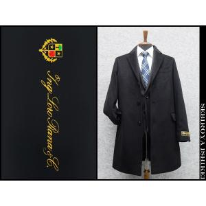 ロロピアーナ チェスターコート カシミヤ100% シングル 黒 中国製 メンズ|dxksm466