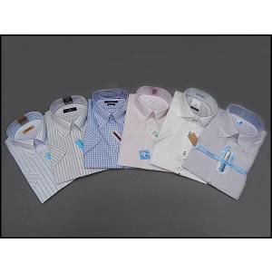 3枚組アソート 半袖 ビジネスシャツ ドレスシャツ メンズ 福袋 LUCKY2|dxksm466