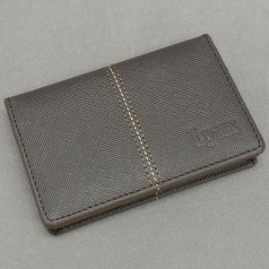 〓Lynx〓リンクス◆牛革◆2つ折り/名刺入れ/カードケース 茶/サファイアーノ柄 LXD-C22|dxksm466