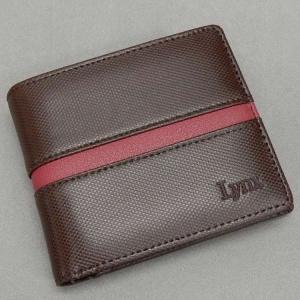 〓Lynx〓リンクス◆牛革◆2つ折り財布/小銭入れ付◆チョコ茶◆マイクロチェック柄 LXD-CS12|dxksm466