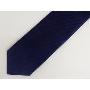 ソリッドネクタイ 中紺 無地 日本製 シルク100% メール便可|dxksm466
