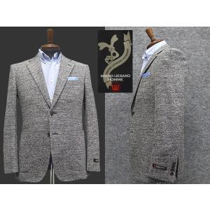 通年物 ニットジャケット [MIEKO UESAKO]ミエコウエサコ スタイリッシュ2釦シングルジャケット 綿100%[A体][AB体][BB体]MU408|dxksm466