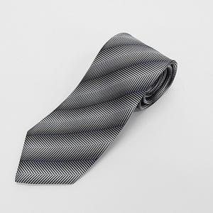 日本製ネクタイ 洗濯機OK 紺×銀×卵 グラデーション杉綾 甲州織 メール便OK|dxksm466
