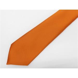 日本製 ネクタイ 東レ テトロン 75デニール糸使用 オレンジ 洗濯機OK メール便OK NT75-OG ハロウィン|dxksm466