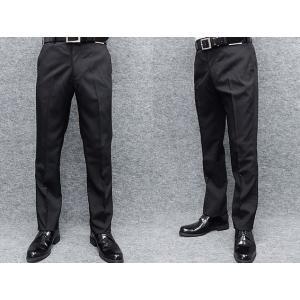 春夏物 スリムノータック スラックス 黒 クールビズ ビジネスパンツ 洗濯可 W73〜100cm OS1796-1|dxksm466