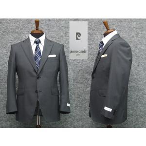 スーツ ピエール・カルダン セミスタイリッシュ2ボタン シングルスーツ グレー系 ストライプ|dxksm466