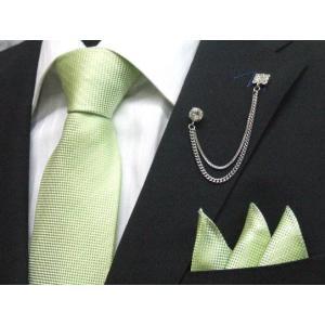 ネクタイ 結婚式 ポケットチーフ付 黄緑 シルク100% 日本製 ラメストライプ フォーマルネクタイ メール便可 ラメ入り dxksm466