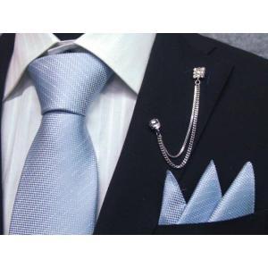 ネクタイ 結婚式 ポケットチーフ付 ライトブルー シルク100% 日本製 ラメストライプ フォーマルネクタイ メール便可 ラメ入り dxksm466