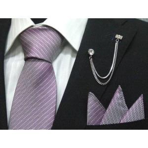 ネクタイ 結婚式 ポケットチーフ付 ラベンダー シルク100% 日本製 ラメストライプ フォーマルネクタイ メール便可 ラメ入り dxksm466