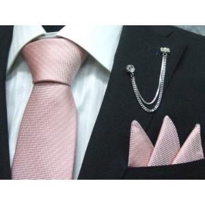 ネクタイ 結婚式 ポケットチーフ付 ピンク シルク100% 日本製 ラメストライプ フォーマルネクタイ メール便可 ラメ入り dxksm466