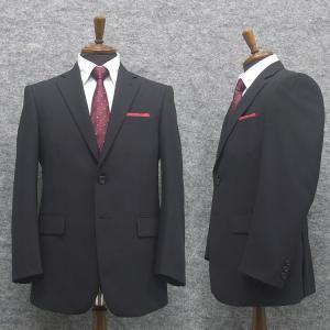 春夏物 ベーシック2釦スーツ 黒/無地 [A体][AB体] ワンタックパンツ RG111100A|dxksm466