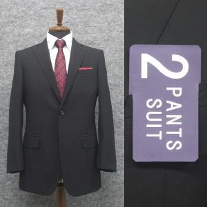 春夏物 2パンツスーツ ベーシック2釦スーツ 黒/無地 [A体][AB体] RG211100A|dxksm466