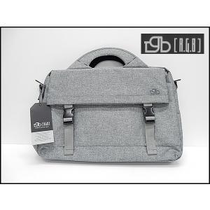 [RGB]アールジービー ビジネスバッグ ブリーフケース 薄灰 布素材 フラップポケット付|dxksm466