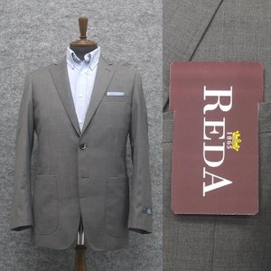 春夏物 ジャケット [REDA]レダ ICESENSE使用 グレー/無地 スタイリッシュ2釦シングル 貼りポケット [Y体][A体][AB体] RGJ54400G|dxksm466