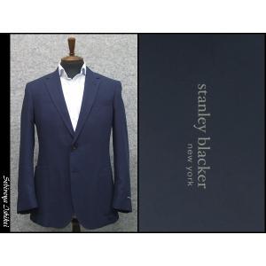ジャケット 春夏物 STANLEY BLACKER ベンベルグ使用 ベーシック2ボタン シングルジャケット 紺 メンズ|dxksm466