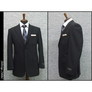 スーツ 春夏物 ベーシック2ボタン シングルスーツ 黒 シャドーストライプ 毛100% メンズスーツ ワンタックスーツ|dxksm466