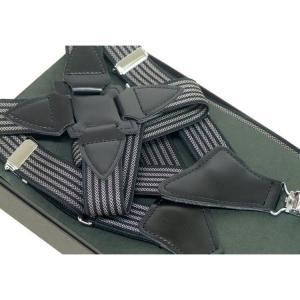 サスペンダー ホルスター型 日本製 黒×コール縞 ガンホルスタータイプ  |dxksm466