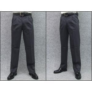 綿パンツ 濃グレー ツータック のびのびウエスト 多機能 形態安定 W76〜100cm|dxksm466